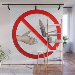 Refuse Hand Shake Sign Wall Mural