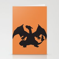 charizard Stationery Cards featuring Charizard Silhouette by Jessica Wray