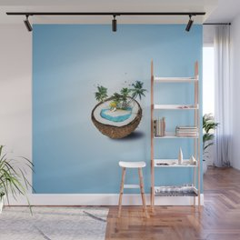 The illusion of the sea paradise blue Wall Mural