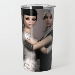 Beautiful Ladies and a difficult choice Travel Mug