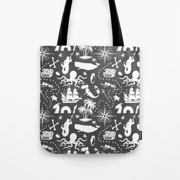 High Seas Adventure // Charcoal Tote Bag
