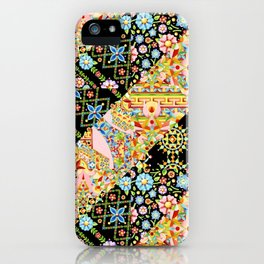 Crazy Patchwork Triangles iPhone Case