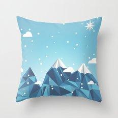 Cool Mountains Throw Pillow