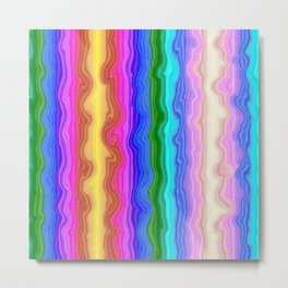 Waves of Colour Metal Print