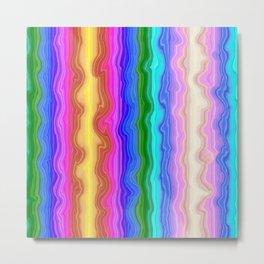 Waves of Colour Metal Print