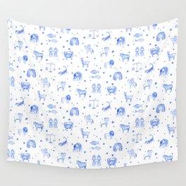 Blue Zodiac Wall Tapestry