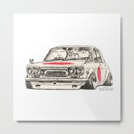 Crazy Car Art 0173 Metal Print
