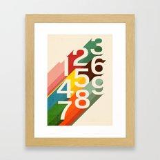 Retro Numbers Framed Art Print