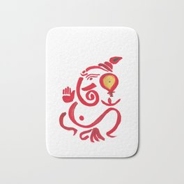 Lord Ganesha art for t-shirt,poster,painting,   elephant god very auspicious for removing evil from Bath Mat