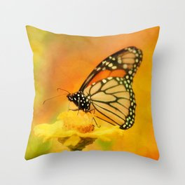Monarch of Spring Throw Pillow