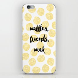 Waffles for Life iPhone Skin