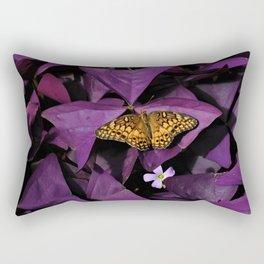 Purple Oxalis 2 Rectangular Pillow
