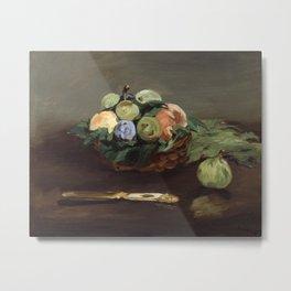 Edouard Manet - Basket of Fruit Metal Print