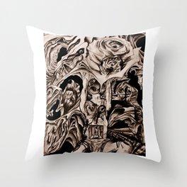 Holder of Burdons Throw Pillow