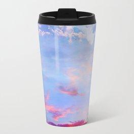 fire clouds v Travel Mug