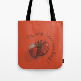 Etre rouge comme une tomate! Tote Bag