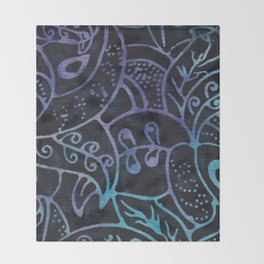Blue Batik 12 Throw Blanket