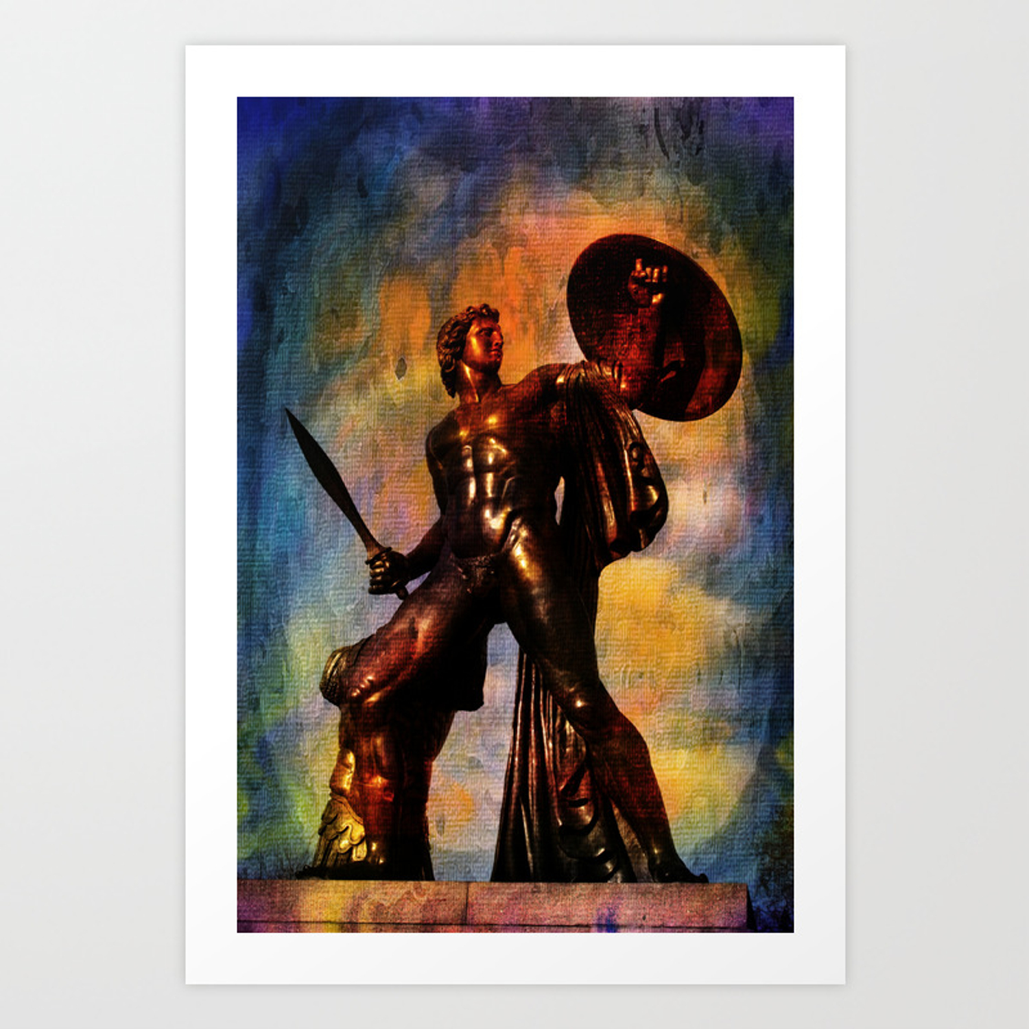 Statue Of Achilles In London Hyde Park Art Print By Luigipetro Society6