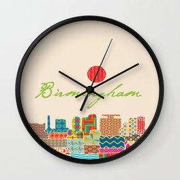 Birmingham Patchwork Wall Clock