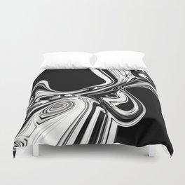 Black and White Radiation Duvet Cover