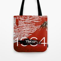 tokyo Tote Bags featuring Tokyo by Artworks by Pablo Zarate Inc.