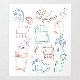 Bruin's Monsters Art Print
