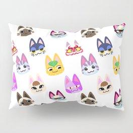 animal crossing cute cats pattern Pillow Sham