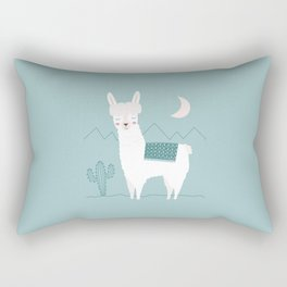 Alpaca In The Mountains Rectangular Pillow