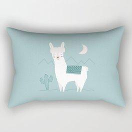Alpaca In The Mountains Rectangular Pillow