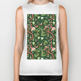 Swirly Trendy_Green Biker Tank