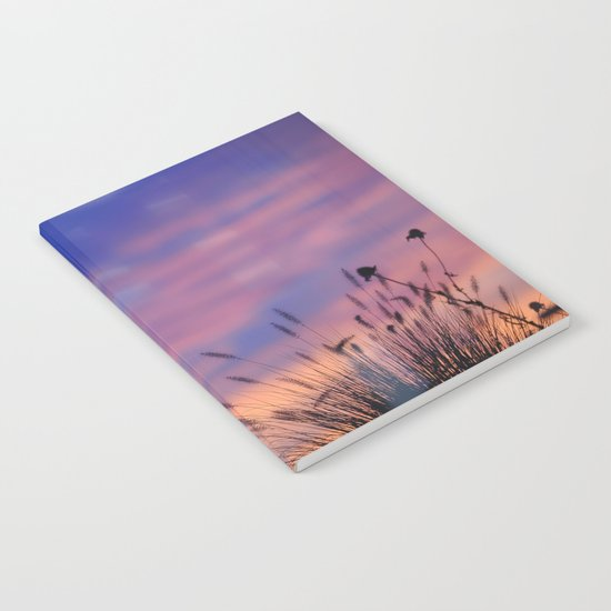LOOK OUTSIDE - Flowers & Sunset #1 #art #society6 Notebook