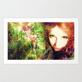 FAIRY GODDESS LADYKASHMIR Art Print
