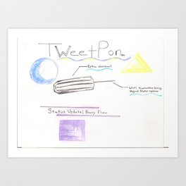 TweetPon Art Print