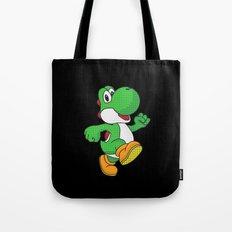 Yoshi Pop Art - Black Tote Bag