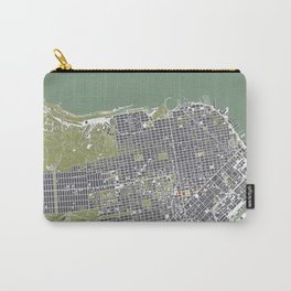 San Francisco city map engraving Carry-All Pouch