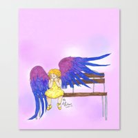 bisexual Canvas Prints featuring Bisexual by Jack Bockover