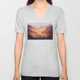 The Elements Geometric Nature Element of Fire Unisex V-Neck
