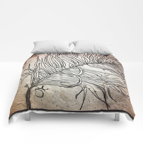 Palm Flower on Earth Day Comforters