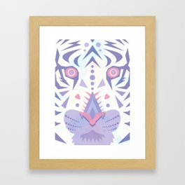White Tiger Framed Art Print