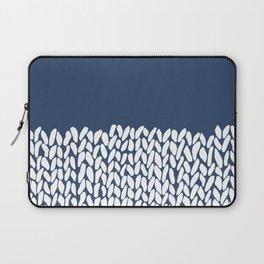 Half Knit Navy Laptop Sleeve