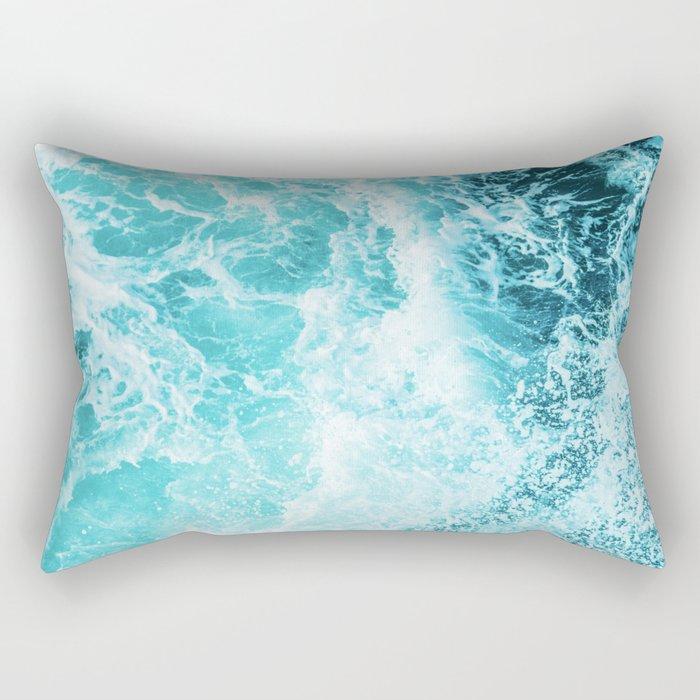 Perfect Sea Waves Rectangular Pillow