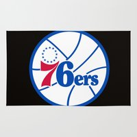 nba Area & Throw Rugs featuring NBA - 76ers by Katieb1013