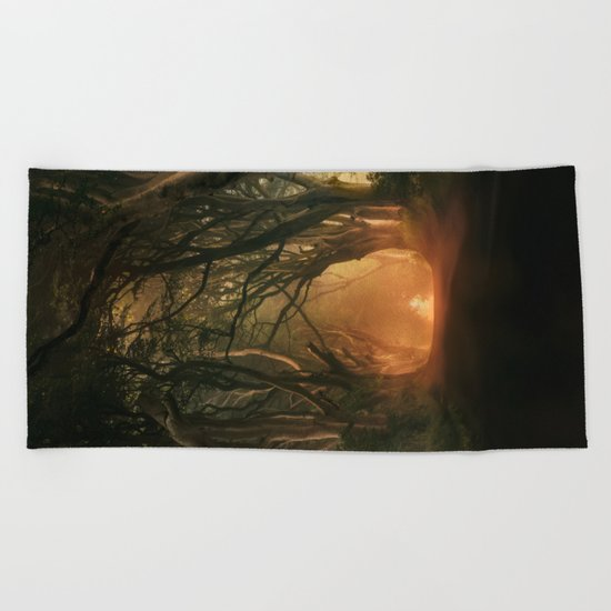 When the day begins... Beach Towel
