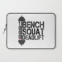 1000 Pounds Bench Squat Deadlift Powerlift Club Fitness Bodybuilder Bodybuilding Laptop Sleeve