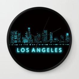 Digital Cityscape: Los Angeles, California Wall Clock