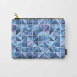 Geometric Watercolour Galaxy Squares and Triangles Carry-All Pouch