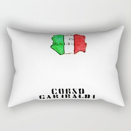 Italian flag painted of Corso Garibaldi Rectangular Pillow