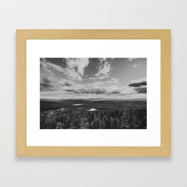 1st stop at Fjellstulvarden Framed Art Print