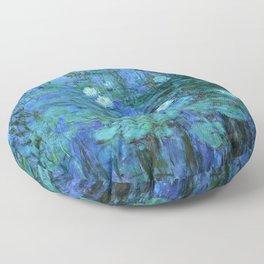 Claude Monet Water Lilies BLUE Floor Pillow
