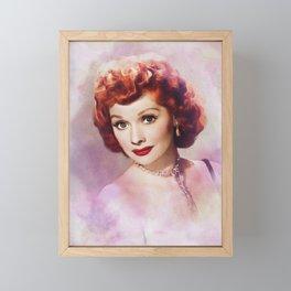 Lucille Ball, Hollywood Legend Framed Mini Art Print